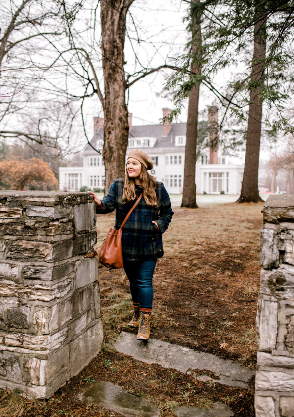 A Snowy Day in Bennington, Vermont featuring Joules USA