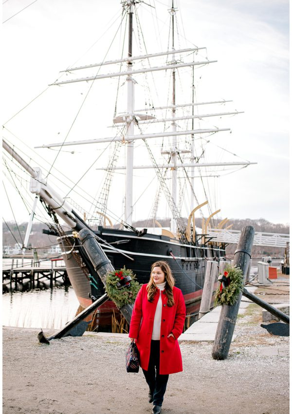 The Holidays at Mystic, CT Seaport with Talbots